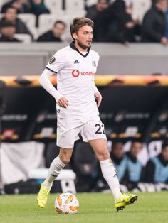 Adem Ljajic of Besiktas JK during the UEFA Europa League group I match between between Besiktas AS and Malmo FF at the Besiktas Park on December 2018 in Istanbul, Turkey(Photo by VI Images via Getty Images) Turkey Photos, Europa League, Istanbul Turkey, Sunshine, Sporty, Football, Running, Black And White, Soccer