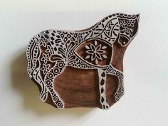Indian Wood Stamp  Horse  Wood Block Printing  by GilbertsTree, $35.00