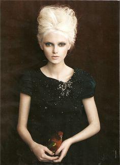 Model Emma Karlsson, photographer Troyt Coburn for Vogue, Australia, July 2008