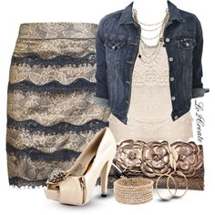 """""""Lace Pencil"""" by lv2create on Polyvore"""