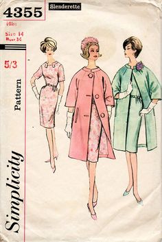1960s Wiggle Dress Vintage Sewing Pattern  by BessieAndMaive, $10.00