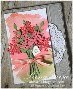 Beautiful Bouquet, Stampin Up, watercolor