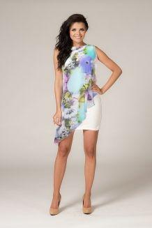 Letnia sukienka z szyfonową narzutką LILA 3