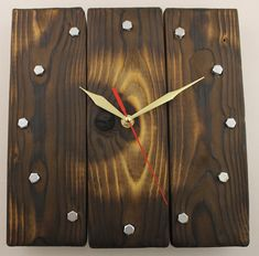 Modern Wall Clock Dimensions: 11.8 inches in Diameter Very elegant and clean design. White hands and sweeping second hand Made from wood. This clock is a beautiful addition to any room in the house such as the living room, game room, bath room, bed room, kids room. Single point latch on