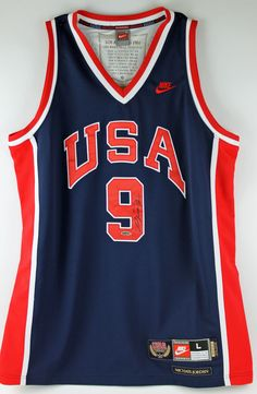 Michael Jordan Autographed USA Basketball Jersey 45a35a680