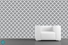 Removable Wallpaper- Moon Lattice-Grey - Peel & Stick Fabric Temporary Wallpaper-Repositionable-Reusable-Self Adhesive- FAST. Temporary Wallpaper, Wallpaper Samples, Self Adhesive Wallpaper, Fabric Wallpaper, Peel And Stick Wallpaper, Traditional Wallpaper, Little Girl Rooms, White Cabinets, Home Decor Inspiration