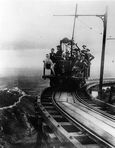 California History - San Gabriel Mountains - Mount Lowe - Mount Lowe Railway - 1890s