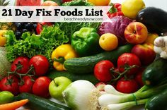 21-Day Fix Food List If you're starting the 21-Day Fix, here is a list of foods that is 21-Day Fix approved. If you can't find them at your local grocery store, many of the grains are …