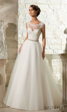 Venice Lace Appliques On Soft Tulle Morilee Bridal Wedding Dress