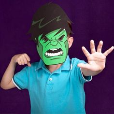 Avengers masks for kids / Hulk