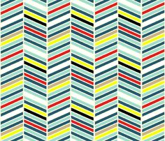 Multi-color chevron fabric by mgterry on Spoonflower - custom fabric