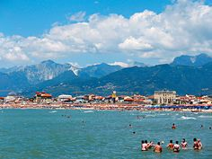 Viareggio, you can see Massa Carrara and the mountains in the background full of Italian marble