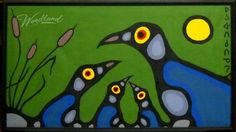 Norval Morrisseau - would make a beautiful stained glass piece South American Art, Native American Art, St Veronica, Woodland Art, Haida Art, Inuit Art, Canadian Art, Famous Art, Indigenous Art