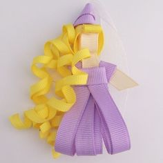 Rapunzel Princess Hair Bow Clip Ribbon by creationsbycharity, $6.00