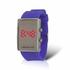 Como Ladies Lavender Silicone Band Rectangular Dial LED Watch by Como. $7.28. Color : Dial Case: Silver Tone;Band: Lavender : Band: Lavender. Weight : 49g;Package Content : 1 x Lady LED Watch. Product Name : LED Watch;Fit for : Lady;Display : Hour, Minute, Second, Date. Material : Dial Case: Stainless Steel;Band: Silicone : Band: Silicone. Fit for Wrist Girth : 17-20cm/6.7''-7.9'';Dial Case Size : 3.9 x 2.7 x 1cm/1.5' x 1.1'' x 0.4'' (L*W*T);Band Size : 19 x 2.2c...