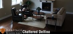 The Chattered Delfino Collection by Heritage Woodcraft, featuring premium-grade wide-plank engineered flooring in many exotic wood species including handscraped Eucalyptus, Teak, Maple and Rosewood. This collection offers a French Bleed finish to accentuate each plank individually.