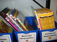 Make your own labels for book spines - quick & easy categorizing for an organized home library.