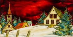 Cliquer pour fermer Noel Christmas, Stained Glass, Moment, Country, Winter, Painting, Art, Paisajes, Paintings I Love