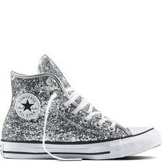 Sites-converse-be-Site Chuck Taylor All Star Glitter Pure Silver/White/Black pure silver/white/black Converse All Star, Converse Outfits, Mode Converse, Silver Converse, Sparkly Converse, Black Chucks, All Star Shoes, Converse Sneakers, Converse Chuck Taylor All Star