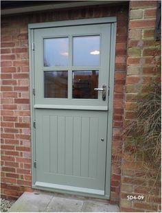 Bespoke Doors Stable Door with 4 Panes made from Oak Stable Door, Traditional Front Doors, Interior Barn Doors, House Front, House Exterior, Cottage Door, External Doors, Exterior Doors, Cottage Style Doors