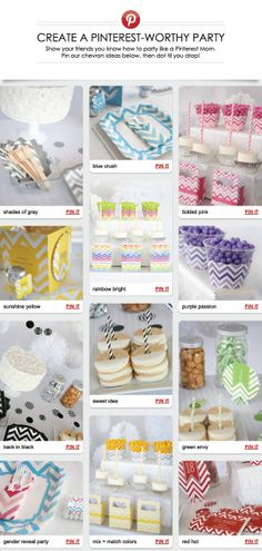 Unique Chevron Party Ideas: Tableware and Personalized Decorations @BigDotOfHappiness.com #HappyDot