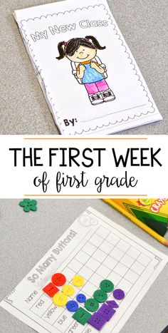 First Week of First Grade - Activities and More! Fun activities for the first week of first grade!Fun activities for the first week of first grade! First Grade Homework, Teaching First Grade, First Grade Classroom, 1st Grade Math, Grade 1, Second Grade, First Day First Grade, First Week Of School Ideas, Beginning Of School