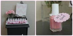 It's a Girl! pink nail polish favors