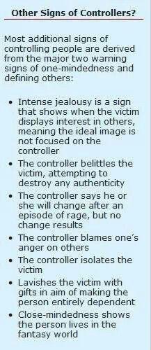 Signs controlling boyfriend