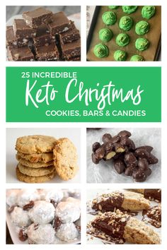 Keto Christmas Cookies, Bars, & Candy Recipes: 25 Incredible Recipes A fantastic roundup of Keto Christmas cookies, bars, & candy recipes with a wide variety of Keto desserts that will remind you of regular Christmas treats. Keto Desserts, Keto Friendly Desserts, Tiramisu Dessert, Keto Cookies, Maple Cookies, Chip Cookies, Christmas Desserts, Christmas Cookies, Healthy Christmas Treats