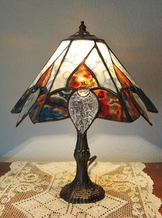 Custom Made Tiffany Style Stained Glass Lamp for Home or Office