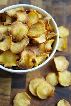 Baked Parsnip Chips are something you can eat a lot of and feel no guilt. Plus, they're delicious!