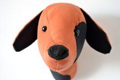 Dog Faux Taxidermy /Dog Trophy Head/ Fabric Animal Trophy/OOAK/wall mount Dog head