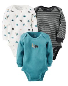 Baby Boy 3-Pack Long-Sleeve Thermal Bodysuits from Carters.com. Shop clothing & accessories from a trusted name in kids, toddlers, and baby clothes.