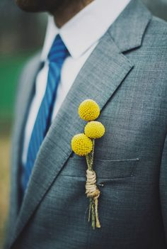 billy button boutonniere // photo by Ariel Renae