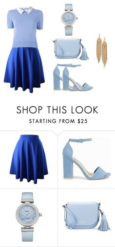 """""""Style #8"""" by evangelyneeliason ❤ liked on Polyvore featuring Olympia Le-Tan, Nly Shoes, OMEGA, Kate Spade and Capwell + Co"""