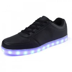 Chaussures Led Basses Noir, Chaussures Semelle Lumineuse Adulte