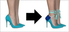 How to wear? Diy Fashion Shoes, Fashion Outfits, Anything But Clothes, Shoe Makeover, Shoe Refashion, Diy Clothes And Shoes, How To Wear Heels, Bling Shoes, Clothing Hacks