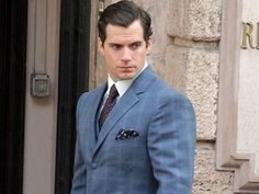 Henry Cavill continues filming The Man from U.N.C.L.E. in Rome