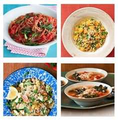 Go for the grain on Meatless Monday: Vegetarian recipes with farro, quinoa and barley! #vegetarian #recipes