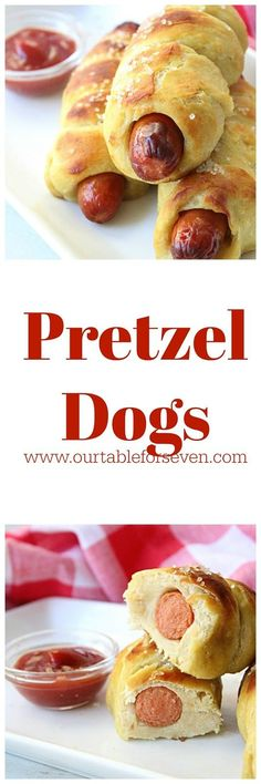 Pretzel Dogs Table for Seven Family Meals, Kids Meals, Frugal Family, Frugal Meals, Pretzel Dough, Homemade Pretzels, Savory Breakfast, Breakfast Ideas, Quick Appetizers