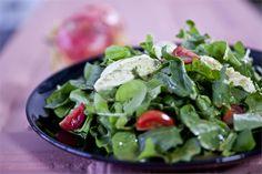 Ρόκα σπανάκι κατίκι πέστο & vinaigrette βαλσάμικο Vinaigrette, Pesto, Spinach, Cooking Recipes, Diet, Vegetables, Food, Cooker Recipes, Chef Recipes