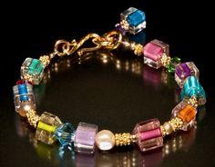 Beaded Bracelets Tutorial, Handmade Bracelets, Handmade Jewelry, Diy Jewelry, Jewelry Bracelets, Cartier Jewelry, Chanel Jewelry, Handmade Wire, Bead Jewelry