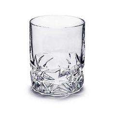 Rock-cut double old-fashioned glass in crystal. | Tiffany & Co.