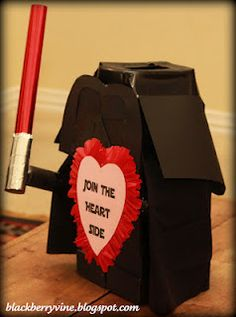 lego darth vadar box...totally cute...for the boys!