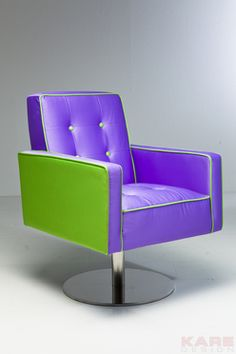 Swivel Chair Captain Kirk Purple Green by KARE Design #KARE #KAREDesign