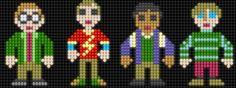 Lair of the Dork Horde: Lite Brite Brutes Lite Brite, Pearler Beads, Fuse Beads, Hama Beads Patterns, Beading Patterns, Big Bang Theory, Lego Mosaic, Bead Art, Plastic Canvas