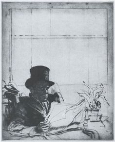 Mr. Simmons, état II, H. 365, drypoint, London 1933, 300 x 240mm