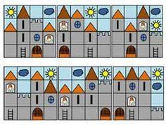 fiche math école maternelle reproduire un modèle Fairy Tale Activities, Classroom Activities, Castle Classroom, Act Math, Medieval, Sequencing Cards, Fine Motor Activities For Kids, Kid Essentials, Collages