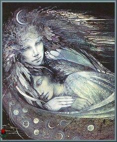 Selene the Moon Goddess - Susan Seddon Boulet Art And Illustration, Illustrations, Goddess Art, Moon Goddess, Luna Goddess, Isis Goddess, Fantasy Kunst, Fantasy Art, Winged Horse