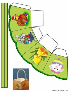 Give Them Something Special With a Personalized Easter Basket … Easter Templates, Easter Printables, Bunny Crafts, Easter Crafts, Paper Box Template, Diy Ostern, Diy Gift Box, Easter Projects, Easter Holidays